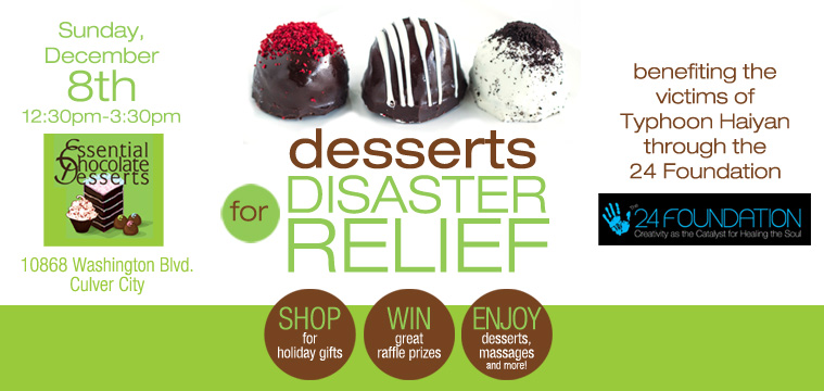 desserts for disaster relief