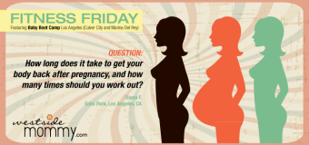 Fitness Friday with Baby Boot Camp Los Angeles (Culver City and Marina Del Rey)