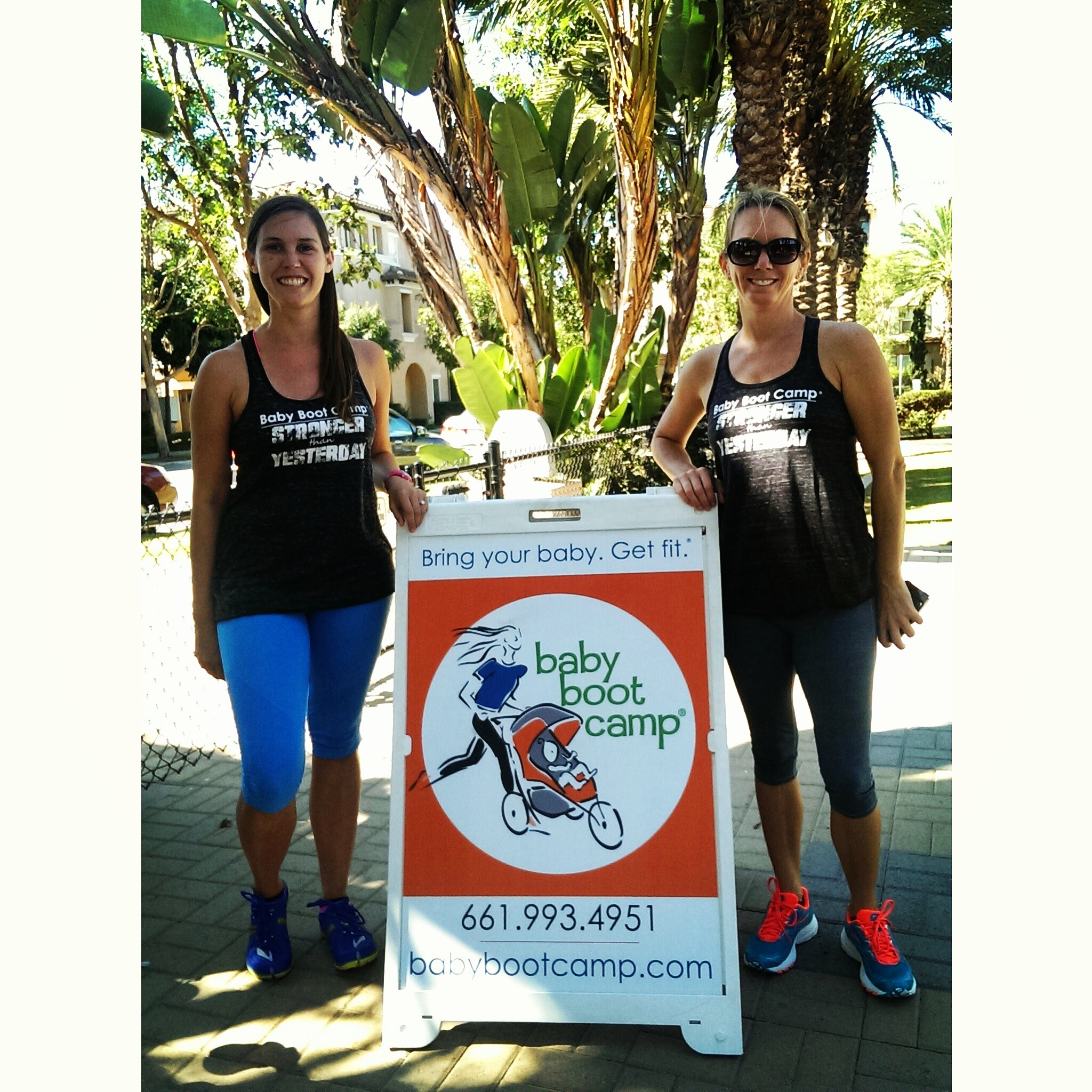 Elizabeth and Melinda, owners of Baby Boot Camp Los Angeles (Culver City and Marina Del Rey)