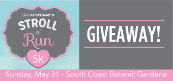 GIVEAWAY – two walker or runner entries for ClubMomMe's Stroll N' Run 5K