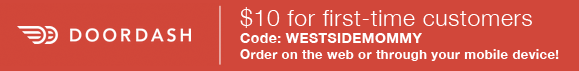 $10 for first time customers to try DoorDash Code: WESTSIDEMOMMY