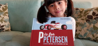 """""""P is for Petersen"""" Alphabet book about cars, enjoyable for kids and parents alike"""