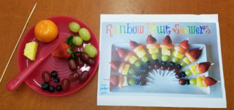 Kindergarten Cooking: Rainbow Fruit Skewers